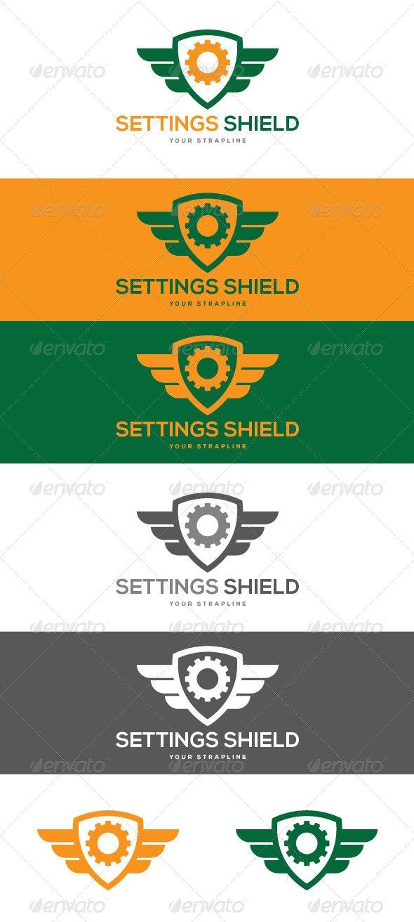 Settings Shield Logo - Symbols Logo Templates