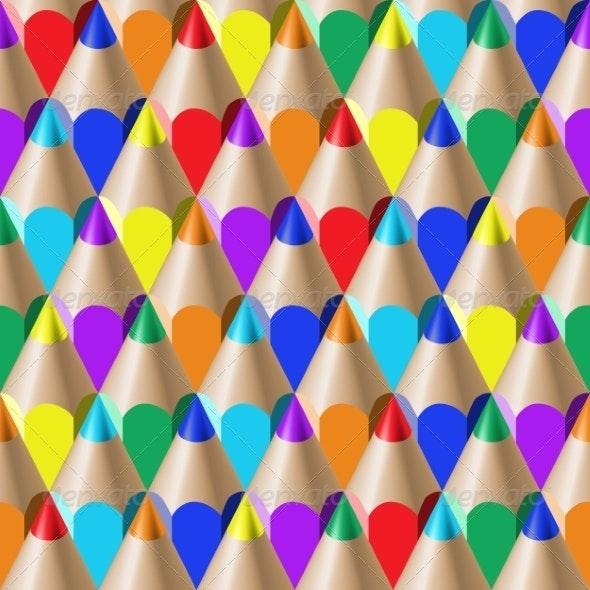 Color Pencil Pattern - Patterns Decorative