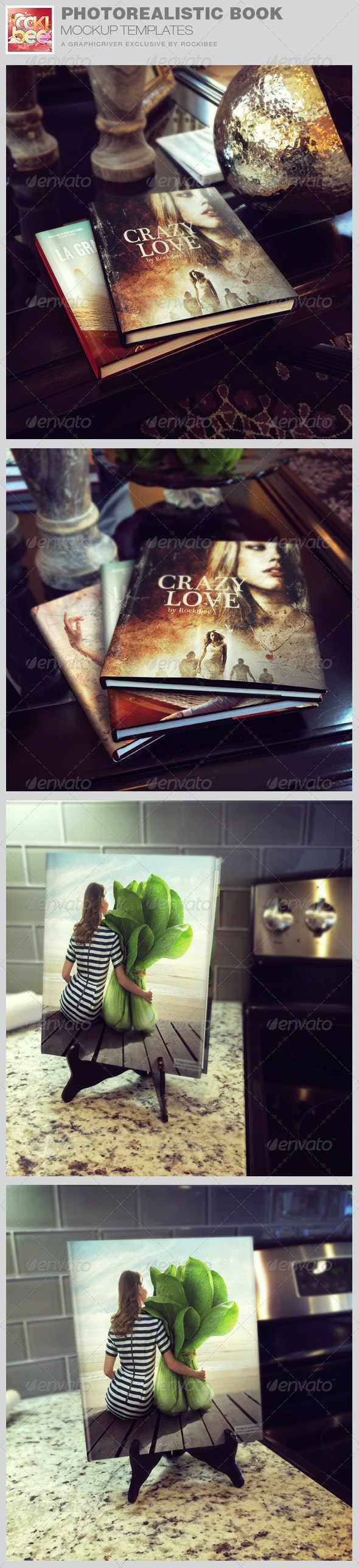 Photorealistic Book Mockup Templates - Books Print