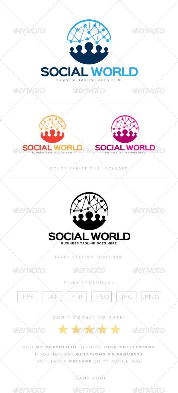Social World Logo - Humans Logo Templates