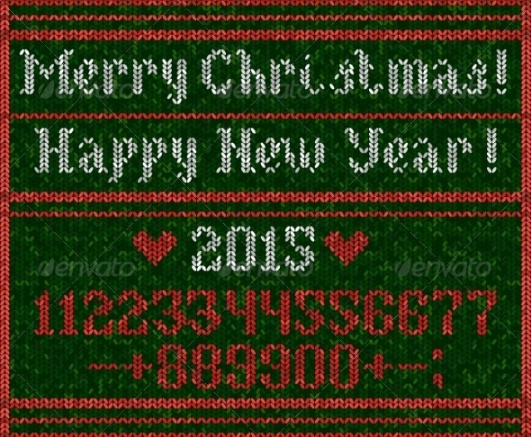 Knitted Numbers - New Year Seasons/Holidays