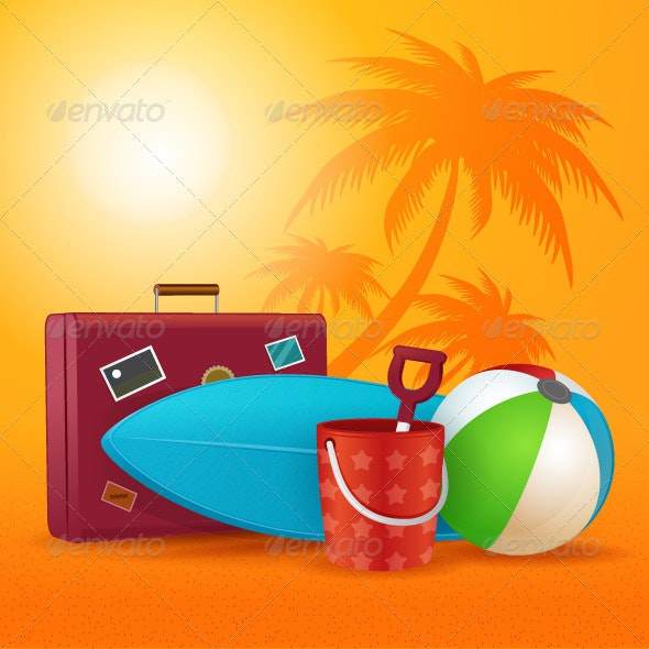 Summer Travel Kit - Objects Vectors