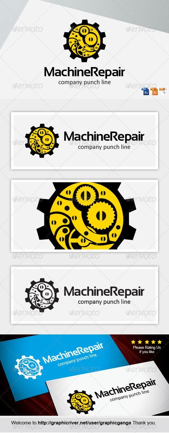Machine Repair - Abstract Logo Templates