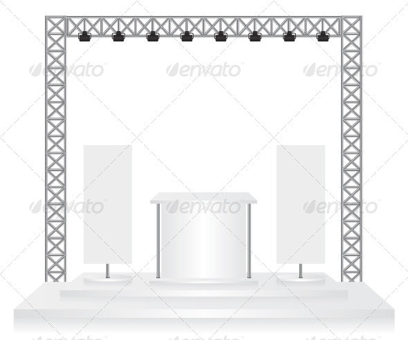 Trade Exhibition Stand and Flags - Concepts Business