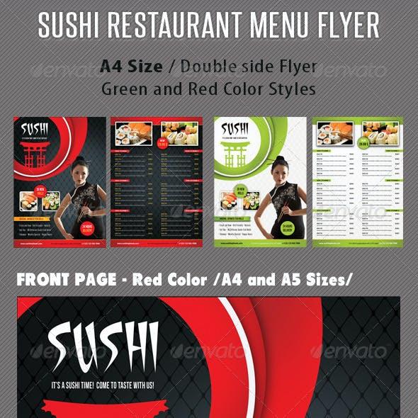Sushi Restaurant Menu Flyer V04