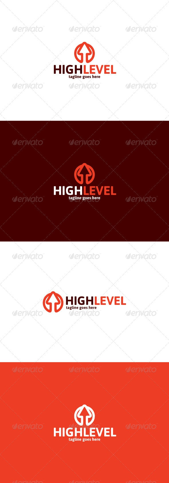 High Level Logo - Vector Abstract