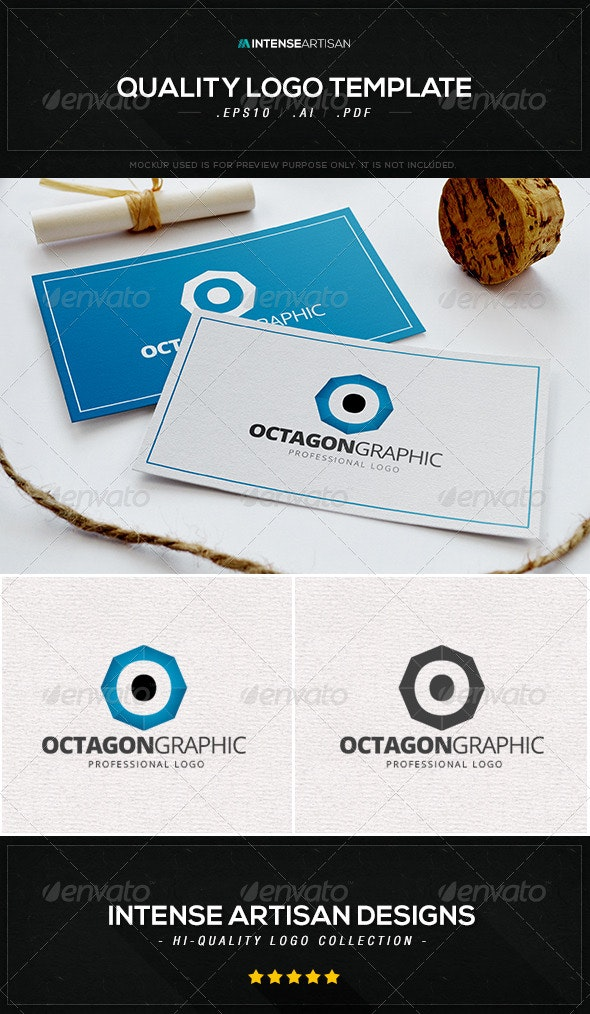 Octagon Graphic Logo Template - Letters Logo Templates