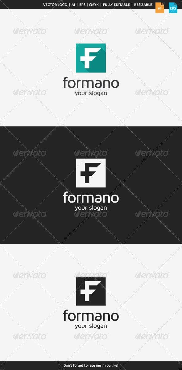 Formano F Logo - Letters Logo Templates
