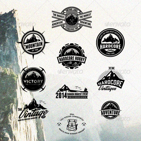 10 Hardcore Adventure Logos & Badges