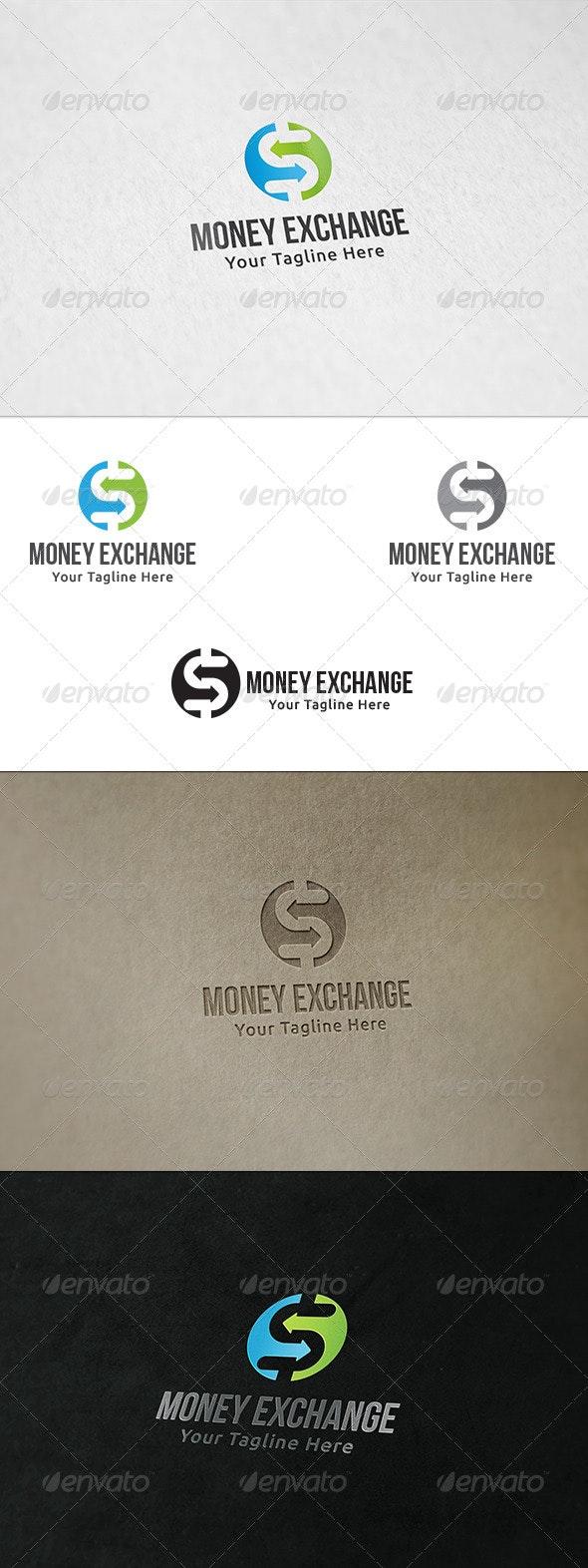 Money Exchange - Logo Template - Vector Abstract