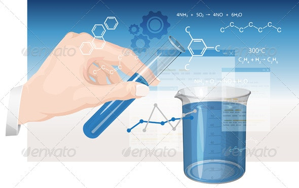 Chemistry Experiments - Illustration - Abstract Conceptual