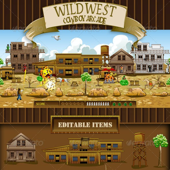 Wild West Cowboy Game Assets