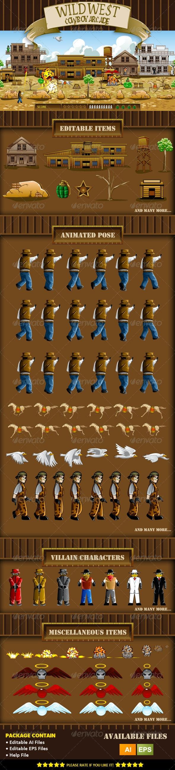 Wild West Cowboy Game Assets - Sprites Game Assets
