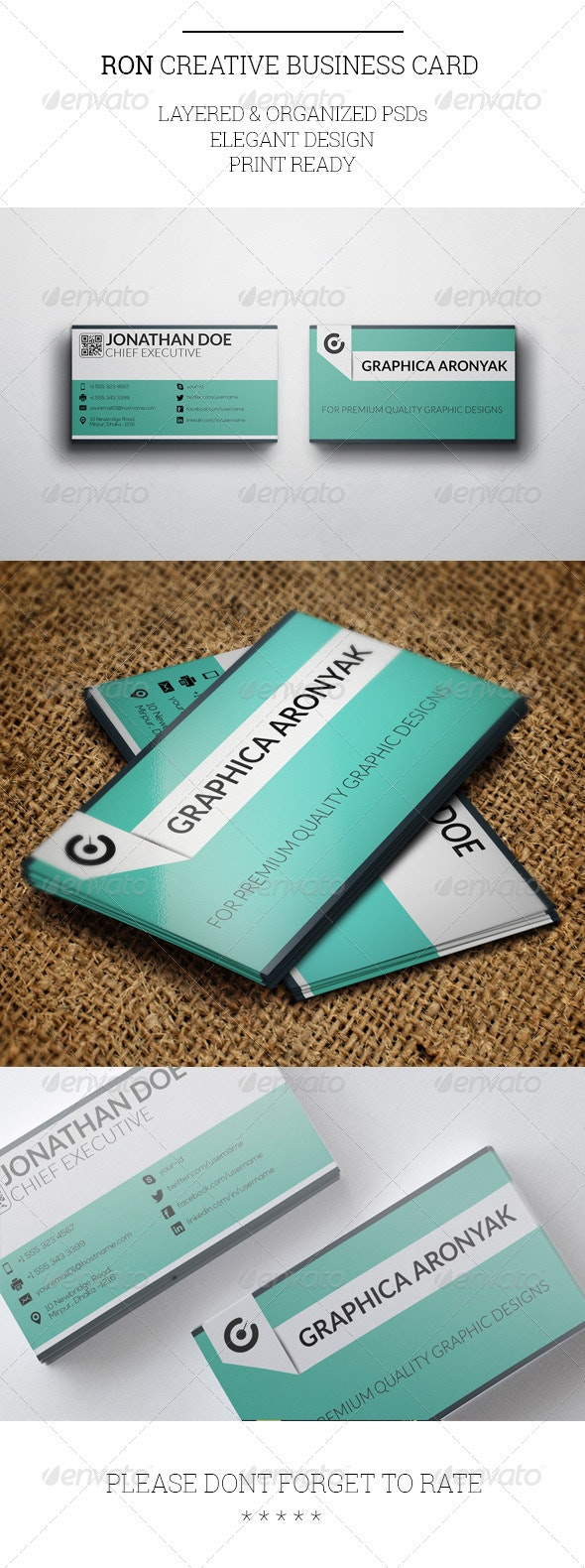 Ron Creative Business Card Template - Creative Business Cards