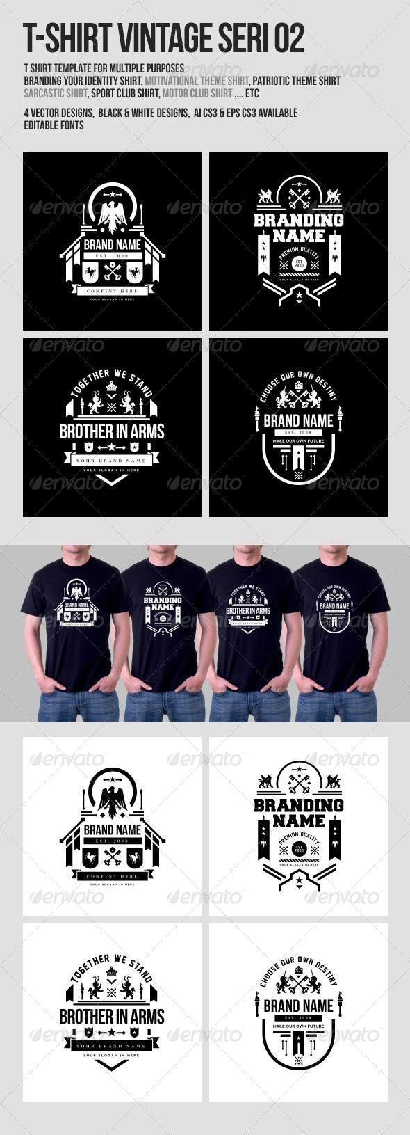 T-Shirt Vintage Design Seri 02 - Designs T-Shirts