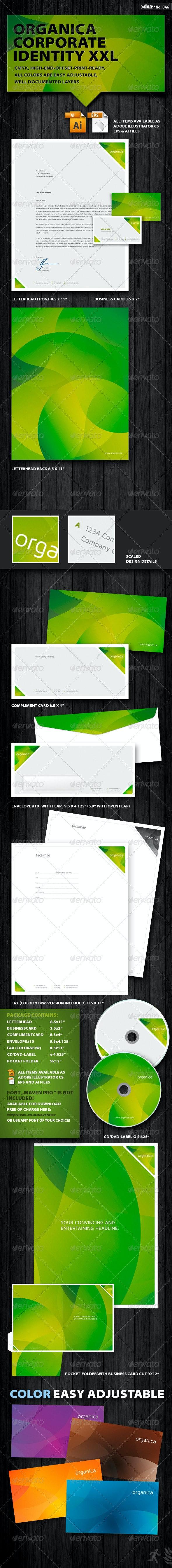 Organica Corporate Identity XXL - Stationery Print Templates