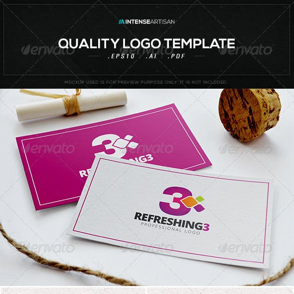 Refreshing 3 Logo Template