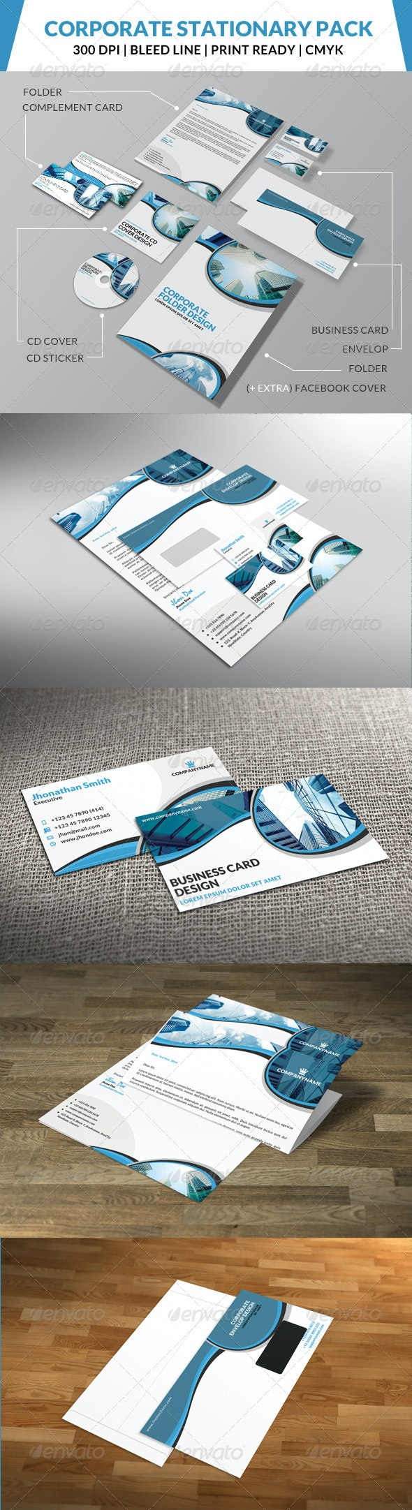 Corporate Stationary Pack 4 - Stationery Print Templates