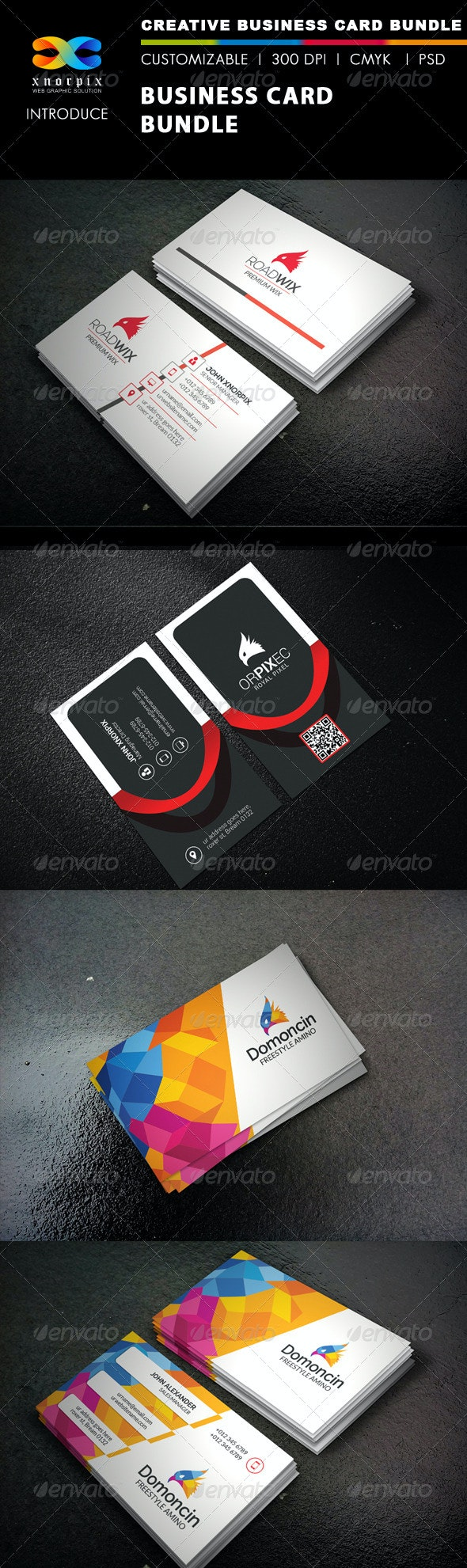 Business Card Bundle 3 in 1-Vol 40 - Corporate Business Cards