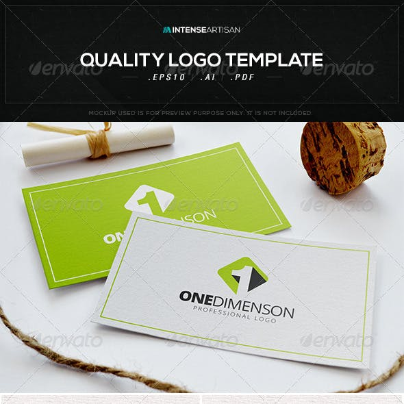 One Dimension Logo Template