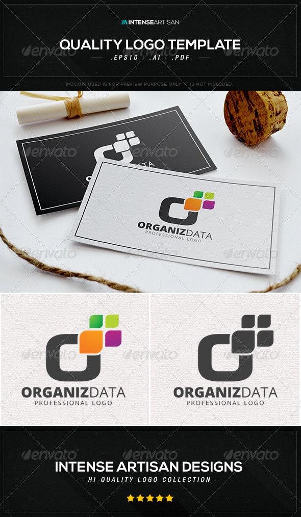 Organise Data Logo Template - Letters Logo Templates